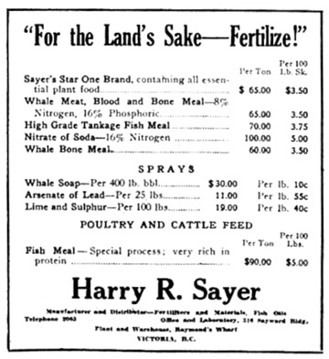 Victoria Daily Colonist, April 17, 1921, page 20, columns 1-2; http://archive.org/stream/dailycolonist0321uvic_41#page/n19/mode/1up.