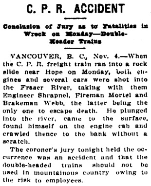 Victoria Daily Colonist, November 5, 1914, page 3, column 4; http://archive.org/stream/dailycolonist56y281uvic#page/n2/mode/1up.
