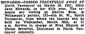 Vancouver Sun, March 17, 1931, page 12, column 1; https://news.google.com/newspapers?id=HS1lAAAAIBAJ&sjid=v4gNAAAAIBAJ&pg=1300%2C1789496.