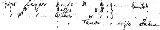 """Canada Passenger Lists, 1881-1922,"" database with images, FamilySearch (https://familysearch.org/ark:/61903/1:1:2HLQ-QM5 : 27 December 2014), Maude Sayer, Oct 1910; citing Immigration, Quebec City, Quebec, Canada, T-4772, Library and Archives Canada, Ottawa, Ontario."