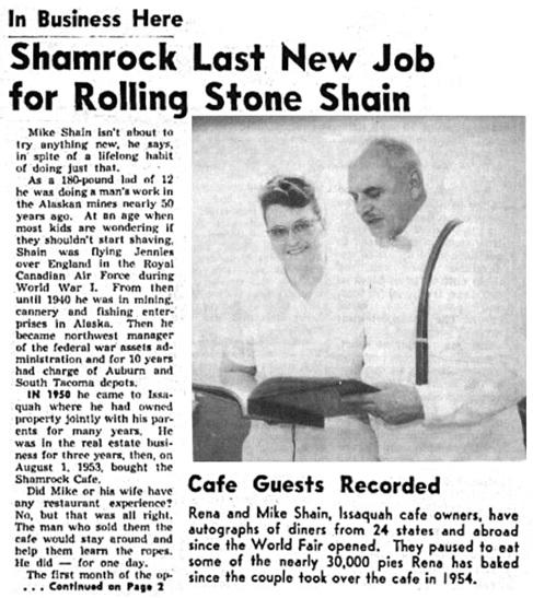 Issaquah Press ( Issaquah, Washington), July 12, 1962, page 1; http://isq.stparchive.com/Archive/ISQ/ISQ07121962P01.php.