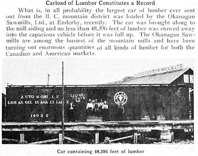 Okanagan Lumber Mills Ltd., Western Lumberman, November 1919, page 33; https://archive.org/stream/westernlumberman1919#page/n822/mode/1up; https://archive.org/stream/westernlumberman1919#page/n823/mode/1up