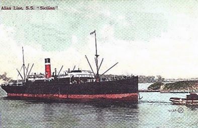 S.S. Sicilian; The R.M.S. Empress of Ireland Community; https://www.theempressofireland.com/quarantine-substation?lightbox=image12ta.