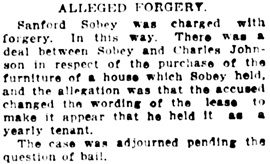 Vancouver Daily World, October 6, 1911, page 34, column 7.