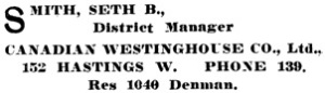 Henderson's City of Vancouver Directory, 1907, page 754.
