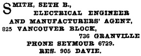 Henderson's Greater Vancouver City Directory, 1913, Part 2, page 1299.