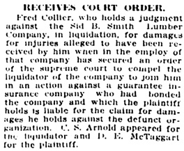 Vancouver Daily World, May 17, 1918, page 10, column 4.