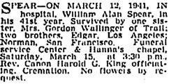 Vancouver Sun, March 13, 1941, page 18, column 1; https://news.google.com/newspapers?id=fTFlAAAAIBAJ&sjid=KokNAAAAIBAJ&pg=1663%2C3292335.