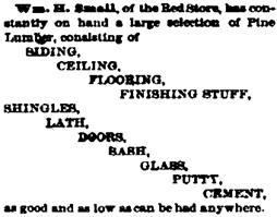 Nebraska Advertiser (Brownville, Nebraska), December 10, 1868, page 3, column 2.
