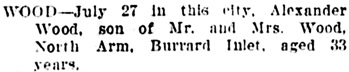 Vancouver World, July 30, 1906, page 9, column 4.
