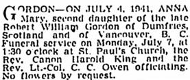 Vancouver Sun, July 4, 1941, page 20, column 1; https://news.google.com/newspapers?id=NDNlAAAAIBAJ&sjid=PIkNAAAAIBAJ&pg=1141%2C529836.
