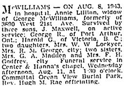Vancouver Sun, August 10, 1943, page 14, column 2; https://news.google.com/newspapers?id=DC1mAAAAIBAJ&sjid=XIkNAAAAIBAJ&pg=926%2C4839833.