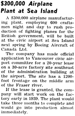 The Chilliwack Progress, December 7, 1938, page 4, column 6.