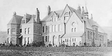 Buxton College, about 1890, Wikipedia; https://upload.wikimedia.org/wikipedia/commons/6/63/BuxtonCommunitySchool1890.jpg.