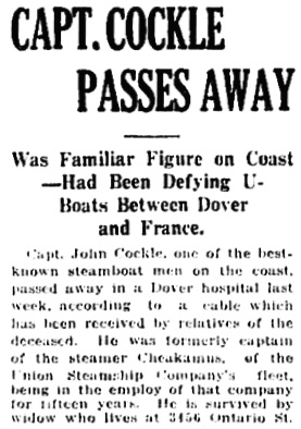 Vancouver Daily World, July 25, 1917, page 8, column 4 [portion of article].