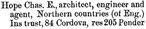 Henderson's City of Vancouver Directory, 1890, page 152.