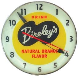 Clock, Bireley's Orange Soda, Pam light up w/metal case & curved outer glass; http://media.liveauctiongroup.net/i/5774/8652911_1.jpg?v=8CC0C26BF7984E0.