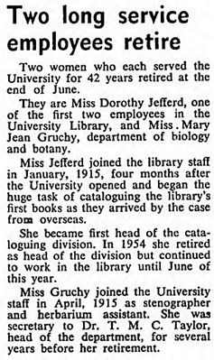 U.B.C. Reports, volume 3, number 7, August 1957, page 3, column 1; https://open.library.ubc.ca/collections/ubcpublications/ubcreports/items/1.0118399#p2z-2r0f: