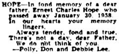 Ottawa Journal, January 30, 1959, page 38, column 2.