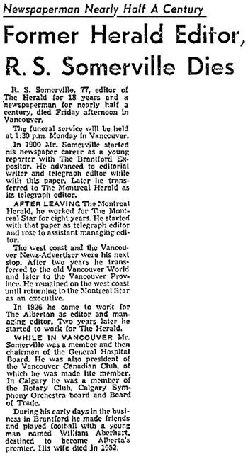Calgary Herald, April 23, 1955, page 21, columns 4-5; https://news.google.com/newspapers?id=Aj5kAAAAIBAJ&sjid=GHwNAAAAIBAJ&pg=4290%2C4035591.