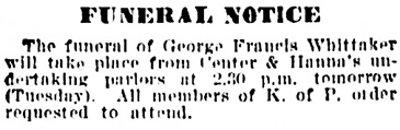 Vancouver Daily World, August 21, 1905, page 7, column 1.