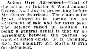 Vancouver Daily World, November 4, 1920, page 13, column 3.