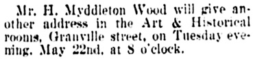 Vancouver Daily World, May 18, 1900, page 8, column 2.