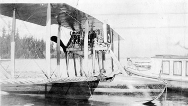 Hoffar seaplane on the water in Coal Harbour, 1915; Vancouver City Archives; Air P73.2; http://searcharchives.vancouver.ca/hoffar-seaplane-on-water-in-coal-harbour.