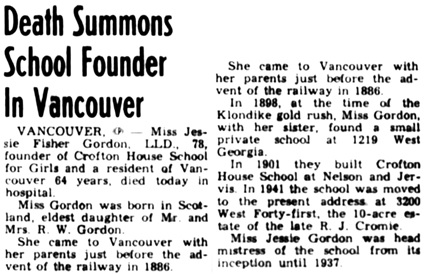 Nanaimo Daily News, April 12, 1951, page 1, column 8.
