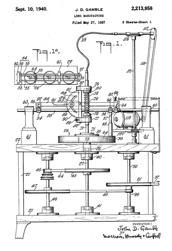 John D. Gamble, United States Patent; Lens manufacture, US 2213958 A; http://www.google.com.na/patents/US2213958.