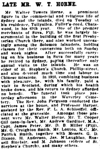 Sydney Morning Herald (New South Wales), April 5, 1912, page 10, column 5.