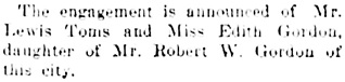 Vancouver Daily World, August 27, 1904, page 6, column 3.
