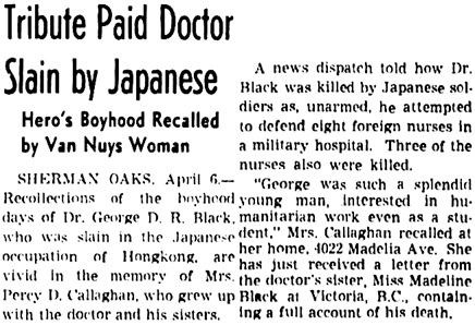 The Los Angeles Times, April 7, 1942, page 26, column 4.