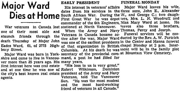 Vancouver Sun, April 19, 1940, page 4, column 3; https://news.google.com/newspapers?id=nTFlAAAAIBAJ&sjid=LokNAAAAIBAJ&pg=1793%2C2778253.