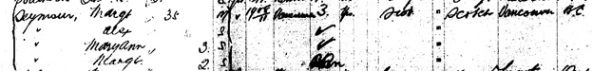 """Canada Passenger Lists, 1881-1922,"" database with images, FamilySearch (https://familysearch.org/ark:/61903/1:1:2HLG-PKN : 11 March 2018), Margt Seymour, May 1912; citing Immigration, Quebec City, Quebec, Canada, T-4785, Library and Archives Canada, Ottawa, Ontario."