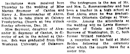 The Sandusky Register (Sandusky, Ohio), December 11, 1937, page 11, column 5.