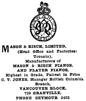 Henderson's Greater Vancouver City Directory, 1915, page 834.