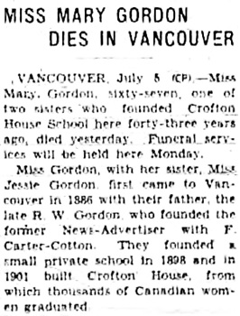 Victoria Daily Colonist, July 6, 1941, page 5, column 4; http://archive.org/stream/dailycolonist0741uvic_4#page/n4/mode/1up.