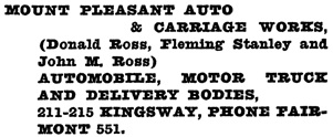 Henderson's Vancouver Directory, 1920, page 815.