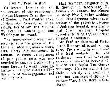 Portsmouth Daily Times (Portsmouth, Ohio), September 29, 1940, page 7, column 7.