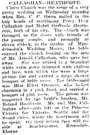 Vancouver Daily World, October 11, 1907, page 12, column 4.