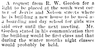Vancouver Daily World, July 10, 1901, page 8, column 5.