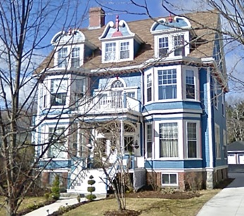 "526 Young Avenue, Halifax, Nova Scotia; Google Streets, searched April 23, 2018; image dated April 2009. [See Leslie Maitland, The Queen Anne Revival Style in Canadian Architecture; National Historic Parks and Sites, Parks Service, Environment Canada, 1990, page 143: ""Alfred Whitman had 526 Young Avenue built to the designs of Whiteway and Horton, architects of Halifax.""]"