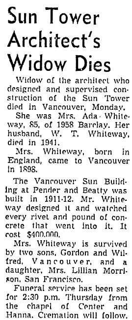 Vancouver Sun, May 20, 1958, page 22, column 1; https://news.google.com/newspapers?id=dD9lAAAAIBAJ&sjid=2okNAAAAIBAJ&pg=4831%2C3891429.