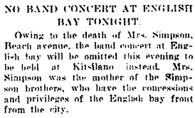 Vancouver Daily World, July 4, 1907, page 13, column 5.