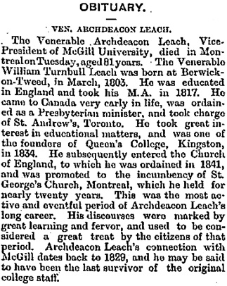 Toronto Globe, October 16, 1886, page 16, column 4.