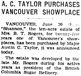 Victoria Daily Colonist, June 21, 1936, page 21, column 1; http://archive.org/stream/dailycolonist0636uvic_66#page/n20/mode/1up.