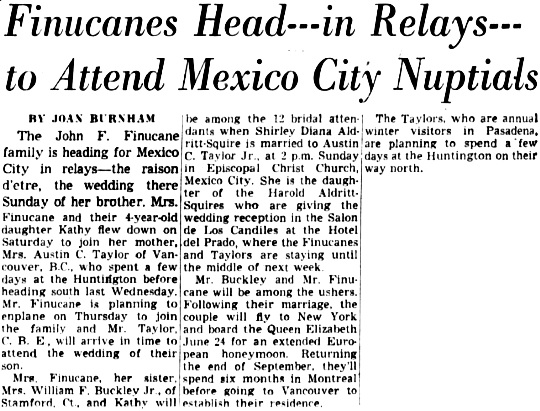 The Los Angeles Times, June 16, 1953, page 59, columns 6-8.