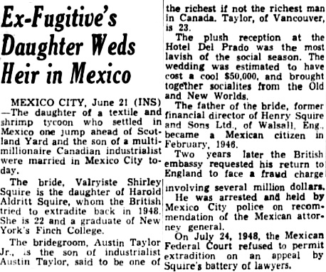 Albuquerque Journal, June 22, 1953, page 4, columns 6-8.