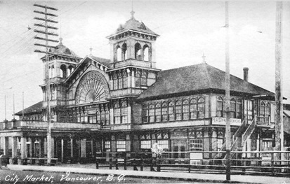 City Market, Vancouver, Postcard, https://www.flickr.com/photos/45379817@N08/9139520410/in/photostream/lightbox/.